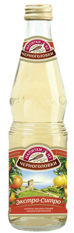 Газированный напиток НАПИТКИ ИЗ ЧЕРНОГОЛОВКИ экстра ситро, 0,5л