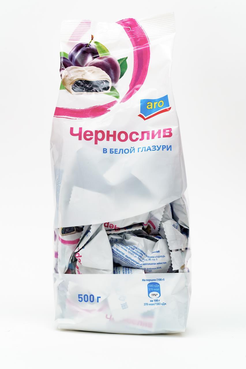 Чернослив в белой глазури ARO, 500 г