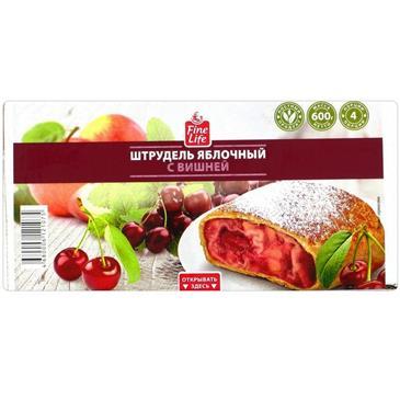 Штрудель FINE LIFE Яблочный с вишней, 600 г
