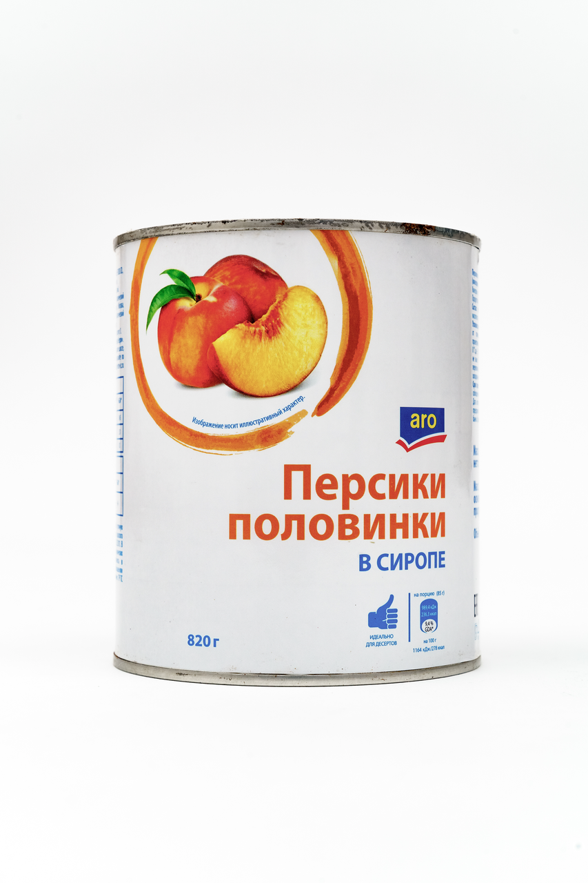 Персик в сиропе ARO 820 г
