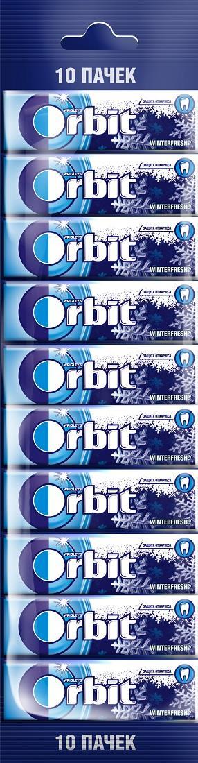 Жевательная резинка ORBIT Winterfresh, 10х13,6 г