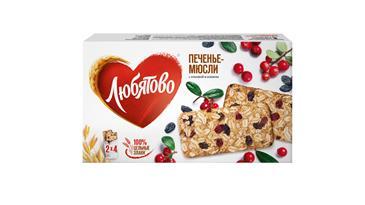 Печенье-мюсли ЛЮБЯТОВО шоколад, 120 г