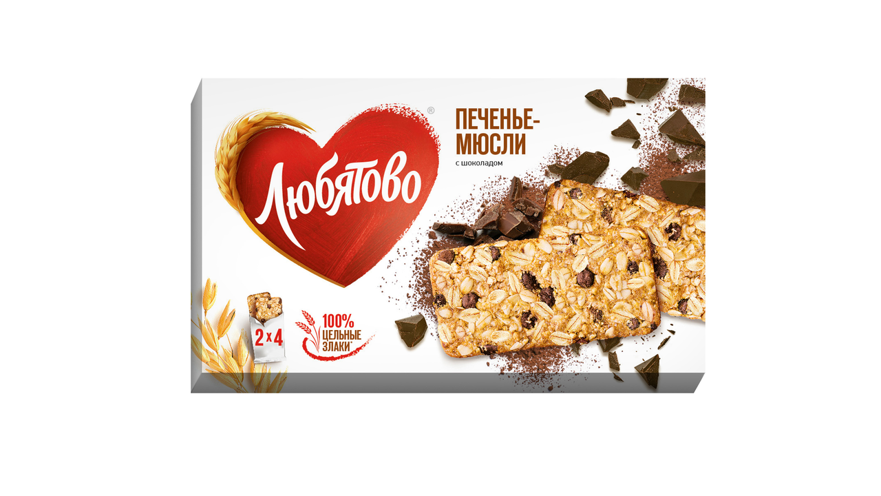 Печенье-мюсли ЛЮБЯТОВО клюква и изюм, 120 г