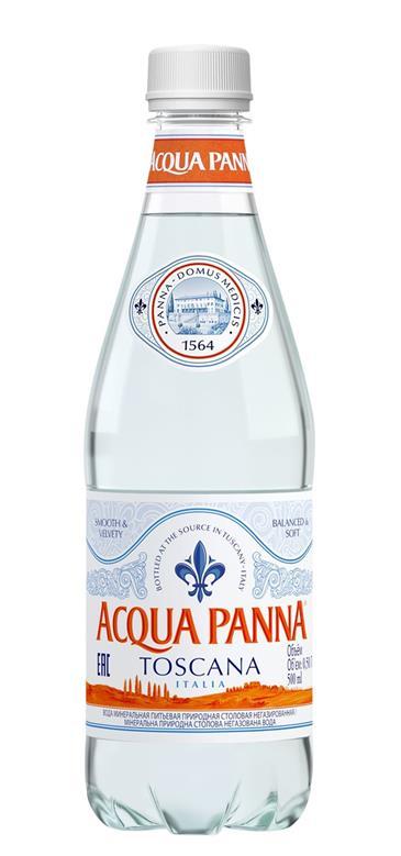 Питьевая вода AQUA PANNA без газа, 0,5л