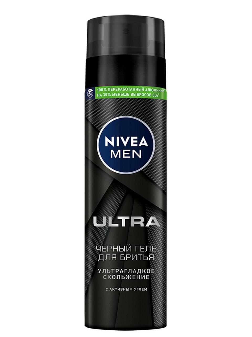 """Черный гель для бритья """"ULTRA"""" NIVEA"""
