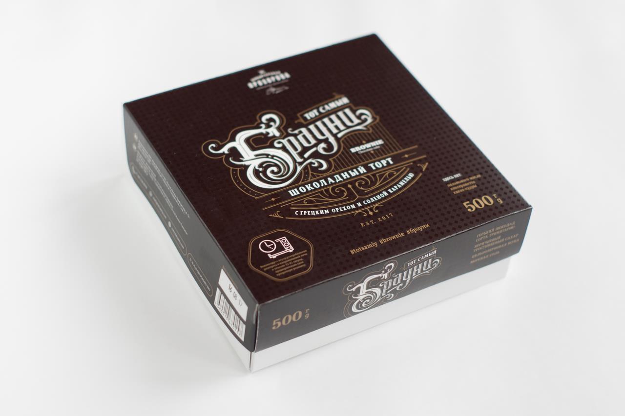 Шоколадный торт Брауни КОНДИТЕРСКАЯ ПРОХОРОВА, 500 г