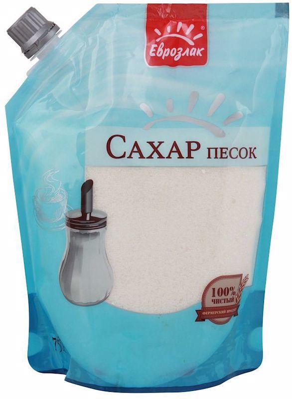 Сахар-песок ЕВРОЗЛАК,дпак,750г