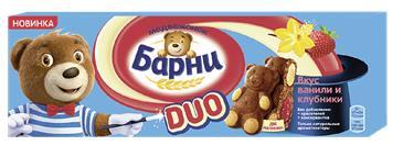 Пирожное БАРНИ Клубника-ваниль, 150 г