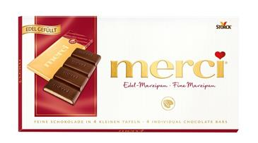 Шоколад MERCI марципан 112 г