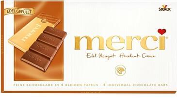 Шоколад MERCI ореховый крем 100 г