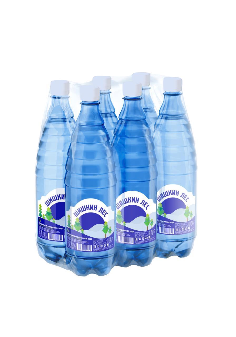 Минеральная вода ШИШКИН ЛЕС газированная, упаковка 6*1л