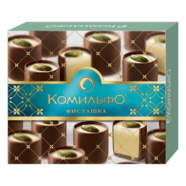 Комильфо(R). Фисташка. Конфеты шоколадные с двухслойной начинкой. 232г