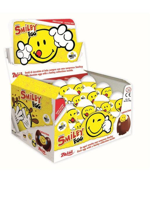 Новогодние яйца с игрушкой SMILEY 20 г