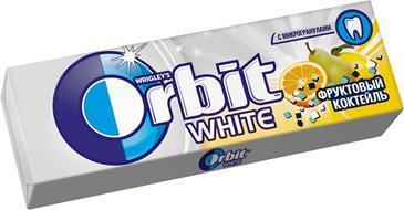 Жевательная резинка ORBIT White фруктовый коктейль, 13,6 г