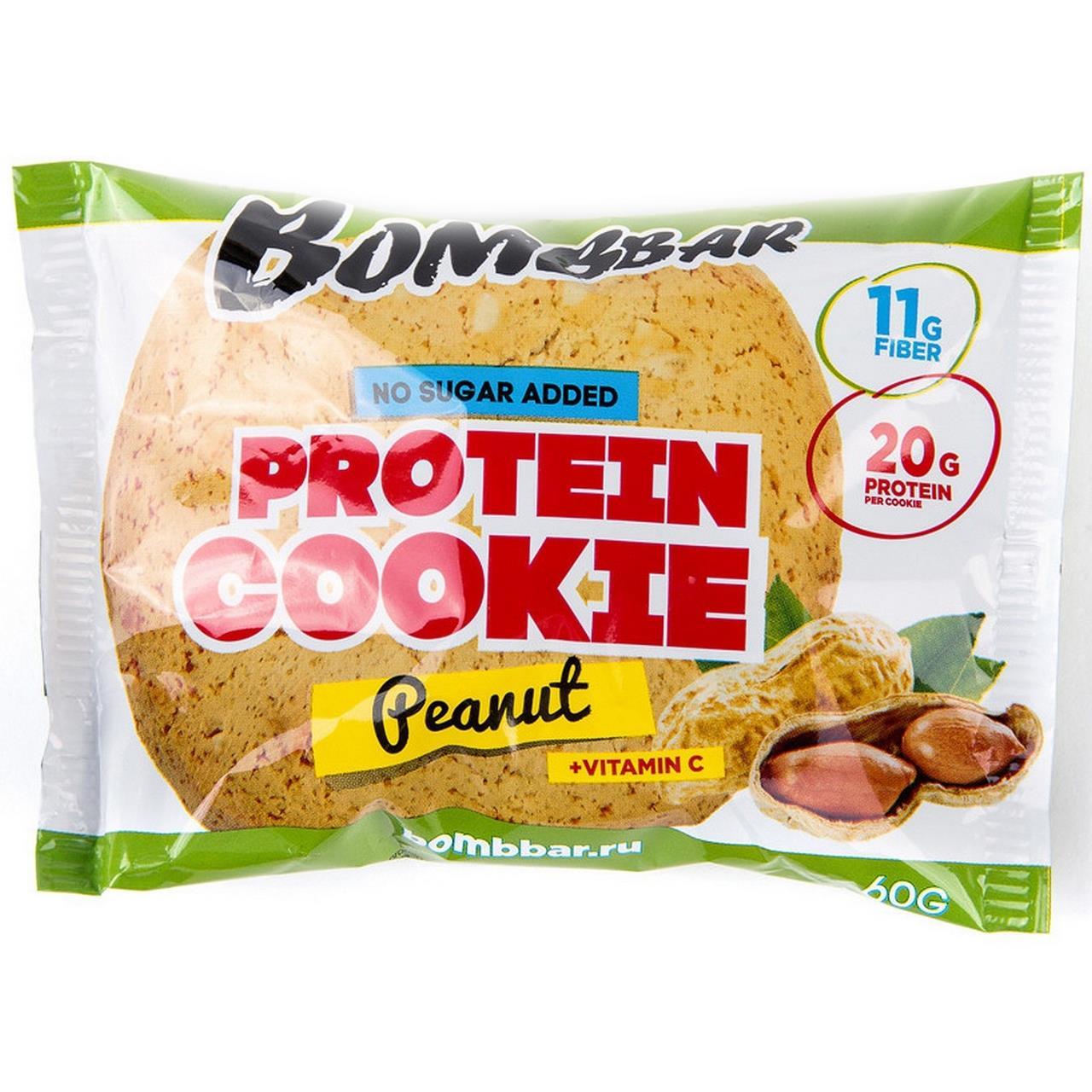 Печенье неглазированное арахис BOMBBAR, 60 г