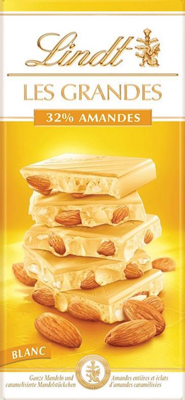 Шоколад белый Ле Гранд Белый Lindt с миндалем, 150 г