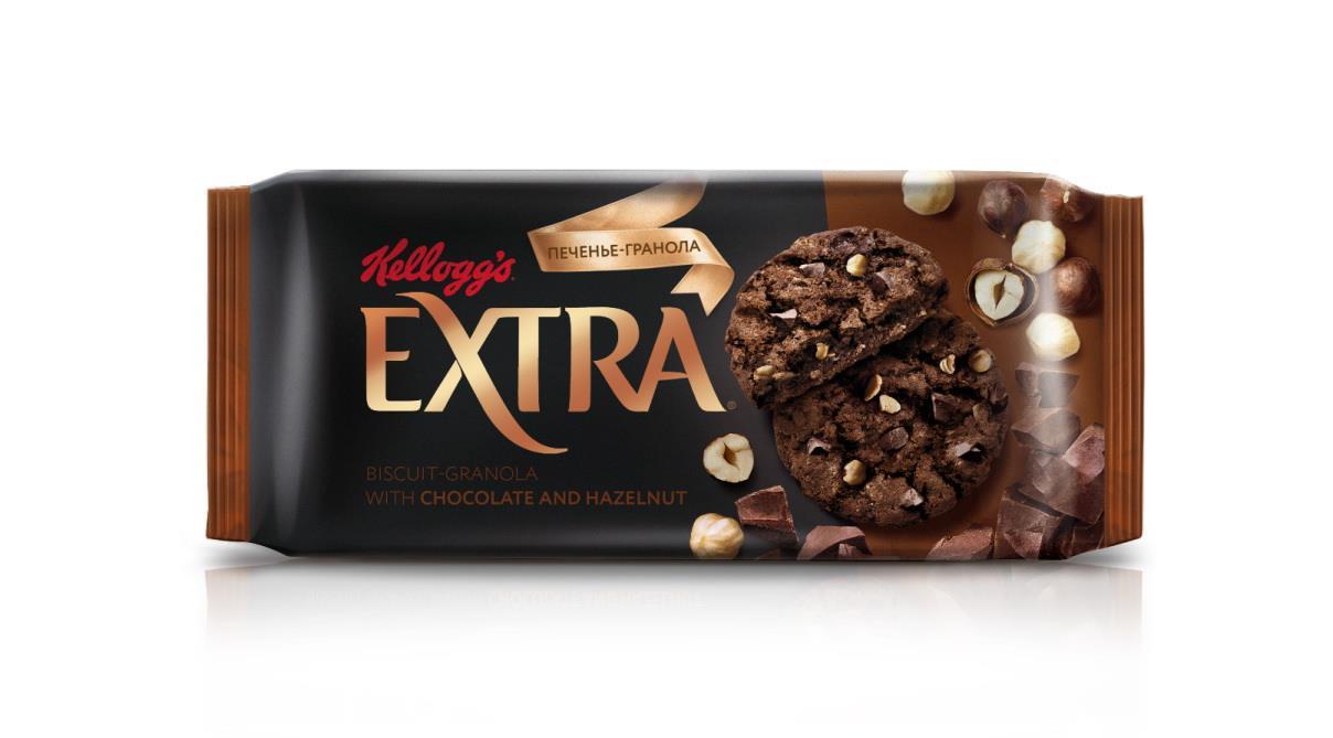 Печенье Гранола с шоколадом и фундуком KELLOGGS, 75 г