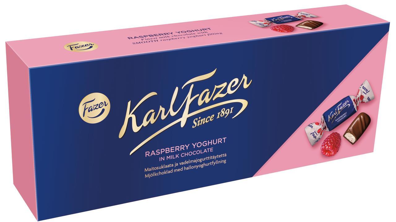 Конфеты Karl Fazer с начинкой из малинового йогурта