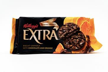 Печенье с шоколадом и апельсином Гранола KELLOG, 75 г