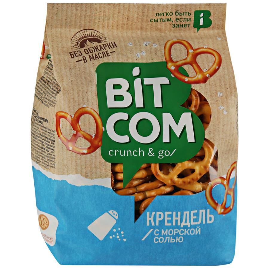 Крендель с морской солью BITCOM, 250 г
