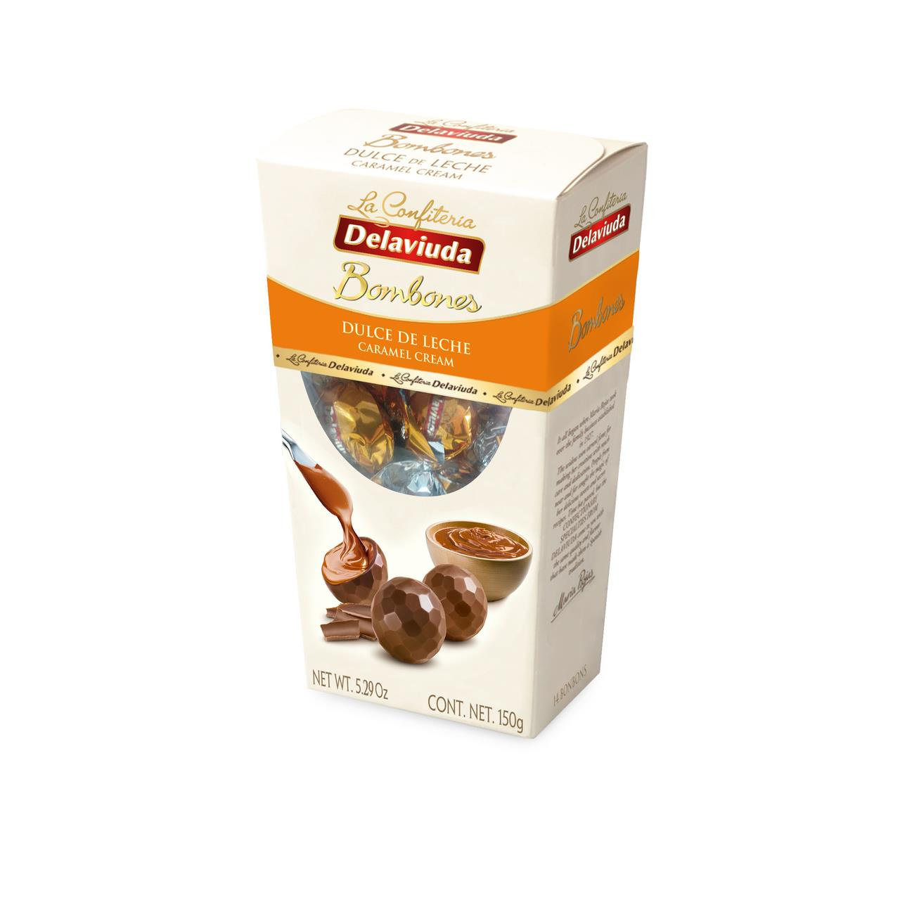 Шоколадные конфеты DELAVIUDA с карамельной начинкой 150 г