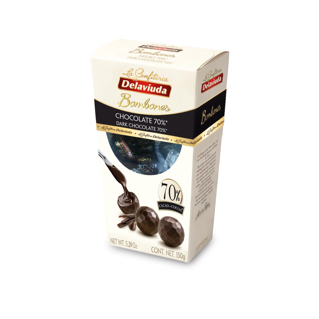 Шоколад горьки, конфеты DELAVIUDA 150 г