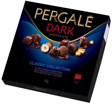 Набор шоколадных конфет PERGALE темный шоколад 125 г
