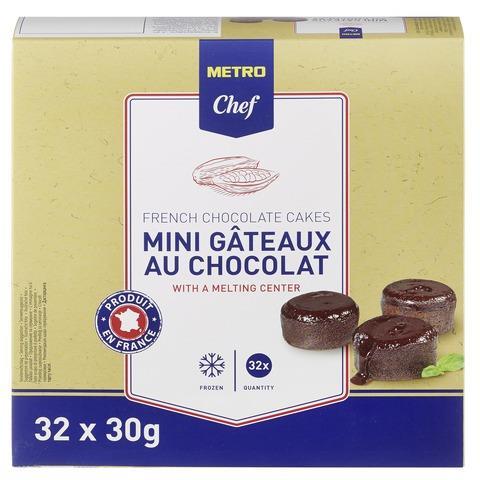 Фондан шоколадный METRO CHEF мини, 32 х 30 г