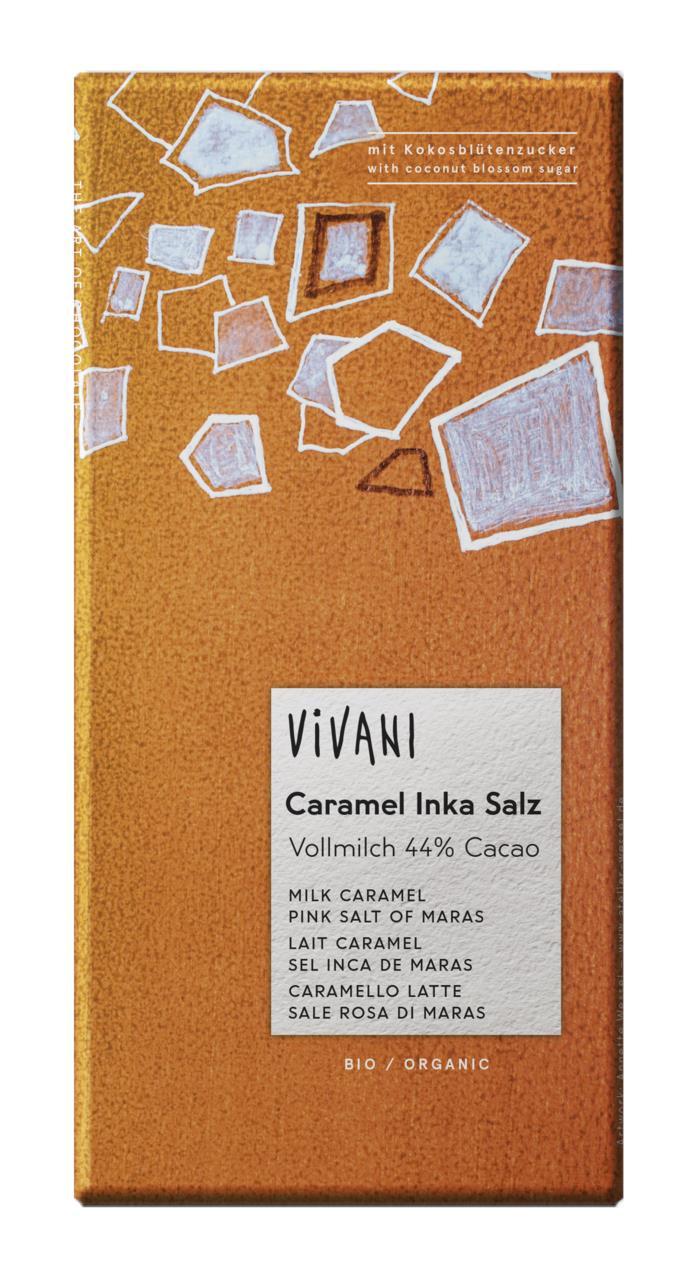Шоколад молочный с розовой солью VIVANI, 80 г