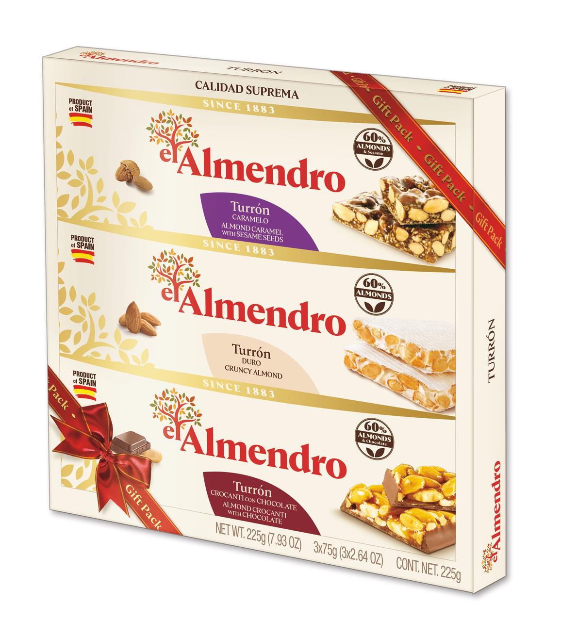 Шоколад Ассорти EL ALMENDRO в подарочной упаковке, 225 г