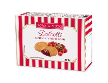Печенье BORGO DE MEDICI с начинкой из красных ягод, 200 г