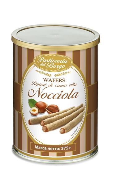 Вафельные трубочки BORGO DE MEDICI с орехом, 375 г