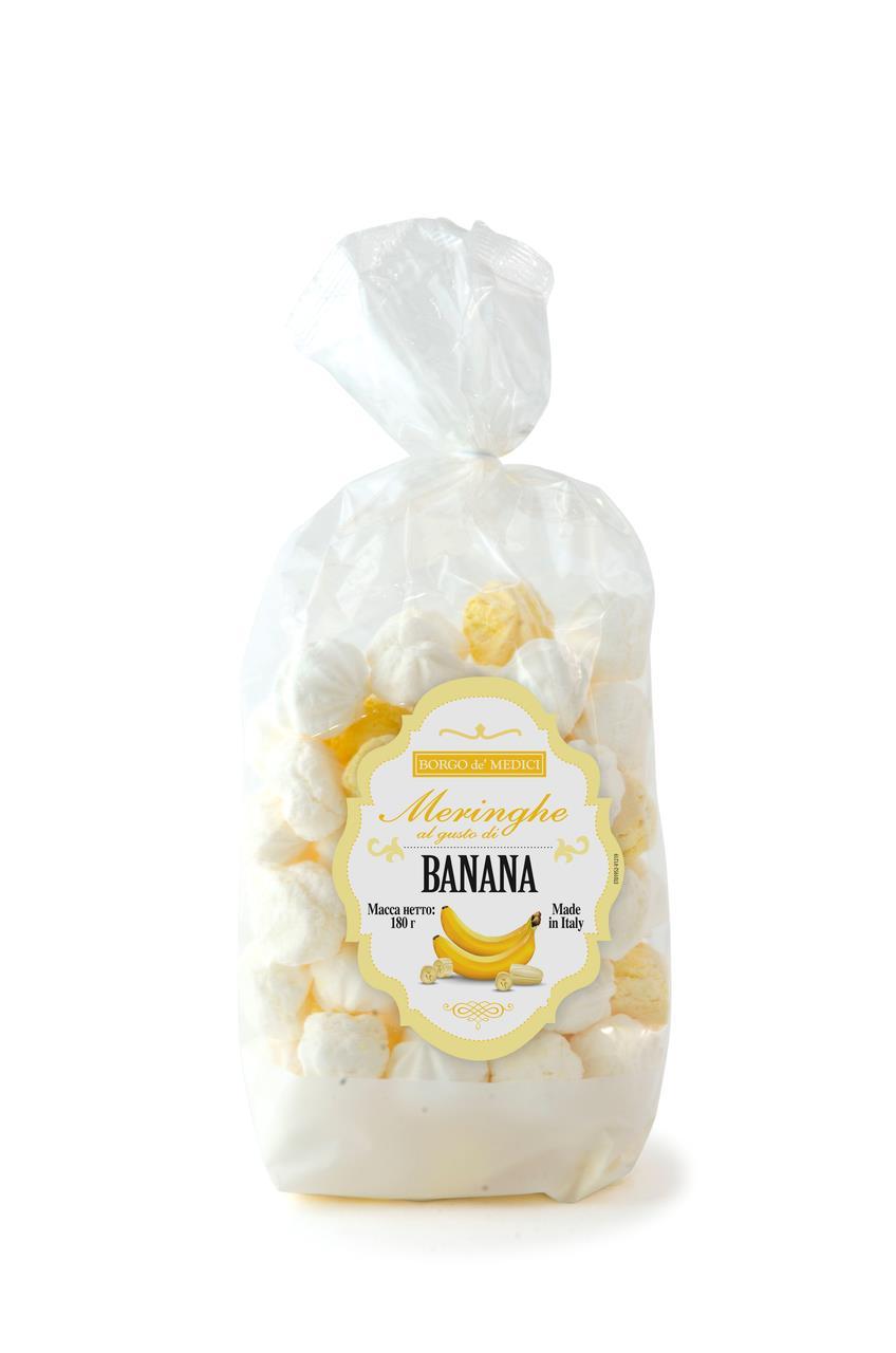 Безе BORGO DE MEDICI банано-ванильное, 180 г