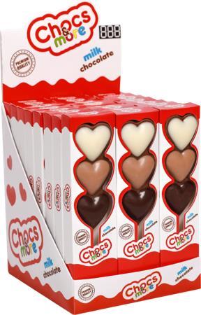 Конфеты шоколадные Сердечки CHOCS & MORE, 25 г