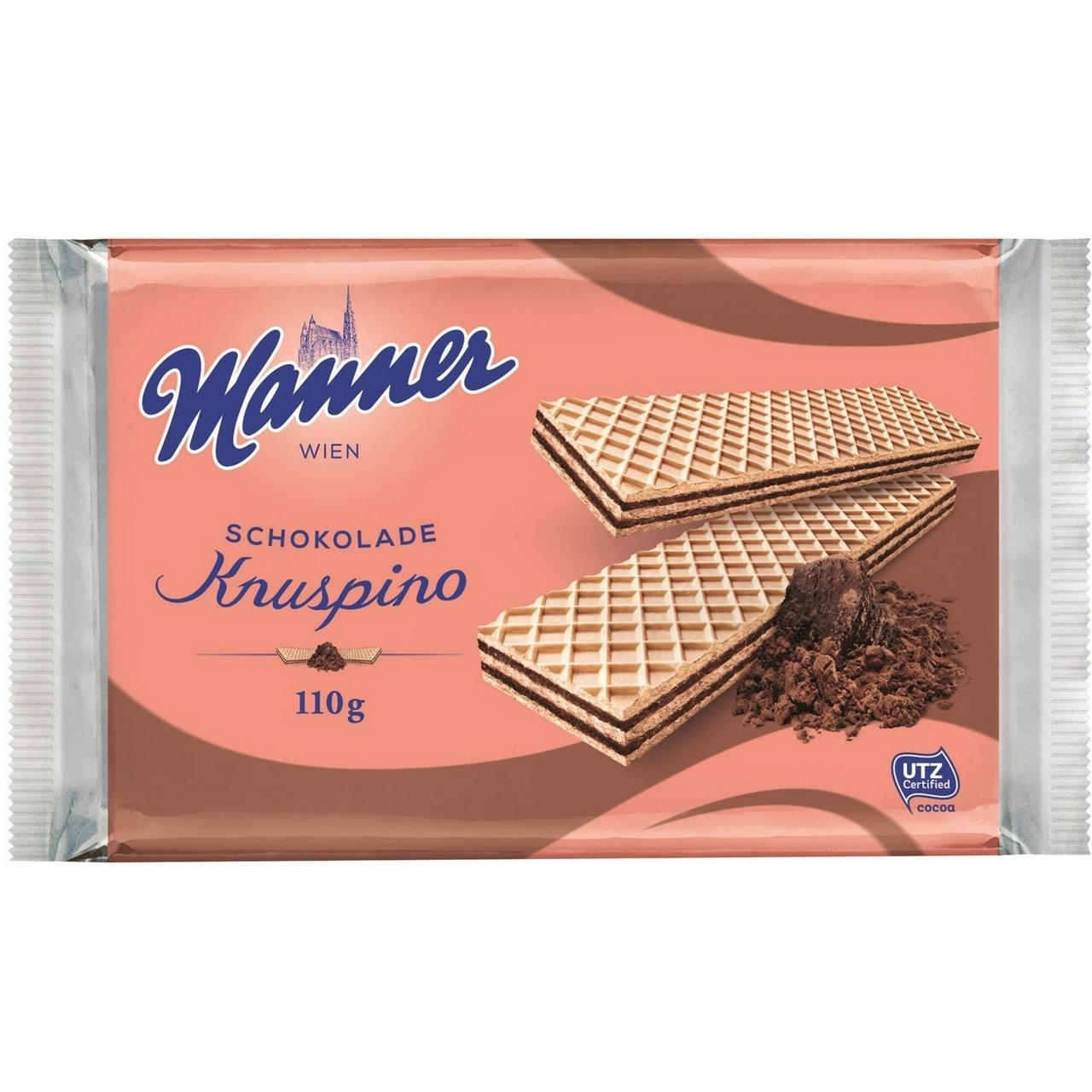 Вафли MANNER Schokolade Knuspino, 110 г