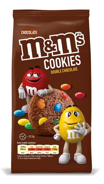 Печенье MARS Bounty Cookies с MandMS, 180 г