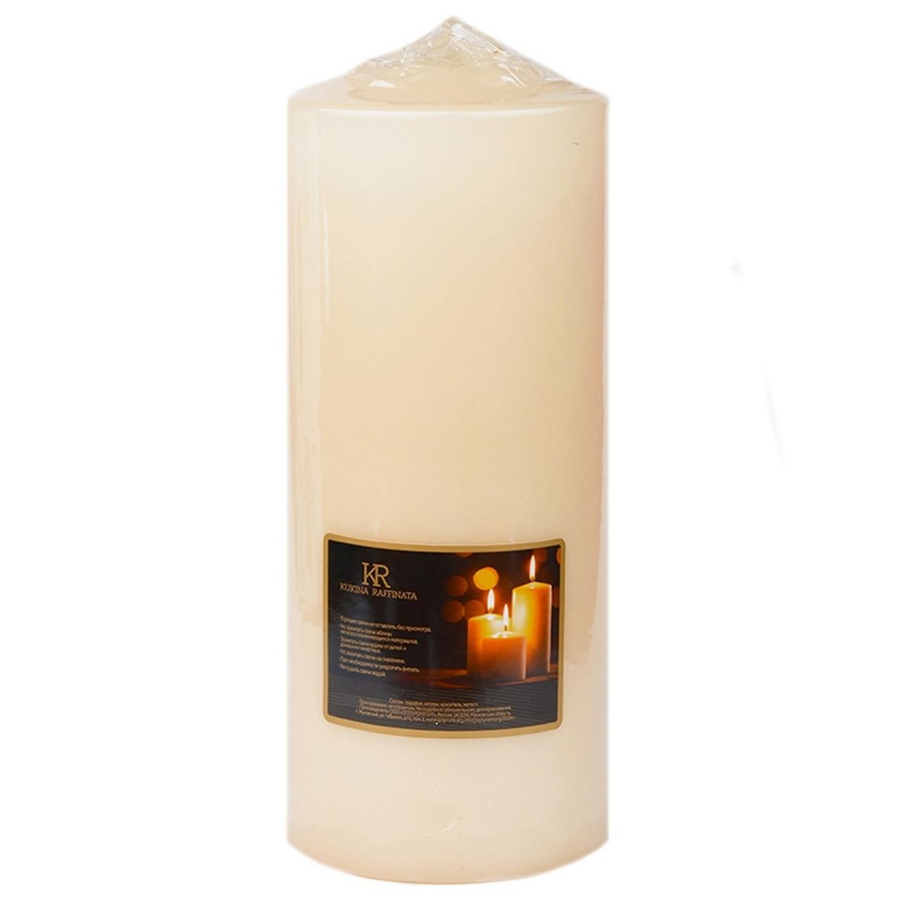 Свеча-столбик KUKINA RAFFINATA микс, 6,3 х 15 см