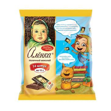 Шоколад АЛЕНКА Молочный, 14 х 15 г