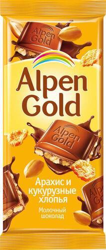 Шоколад ALPEN GOLD Кукурузные хлопья, 85 г