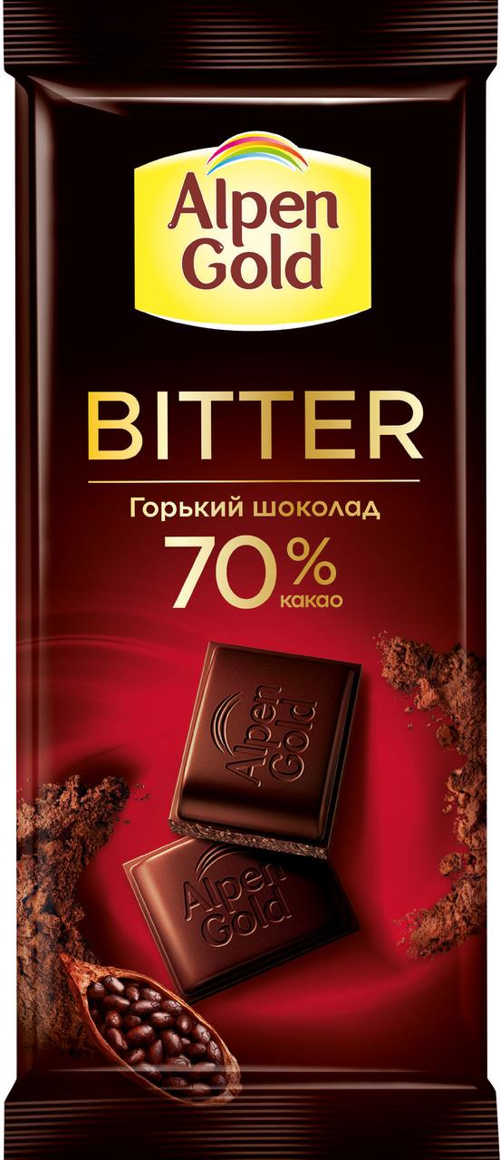 Шоколад ALPEN GOLD Горький, 80 г