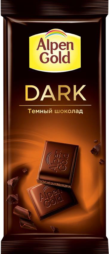 Шоколад ALPEN GOLD Темный, 80 г