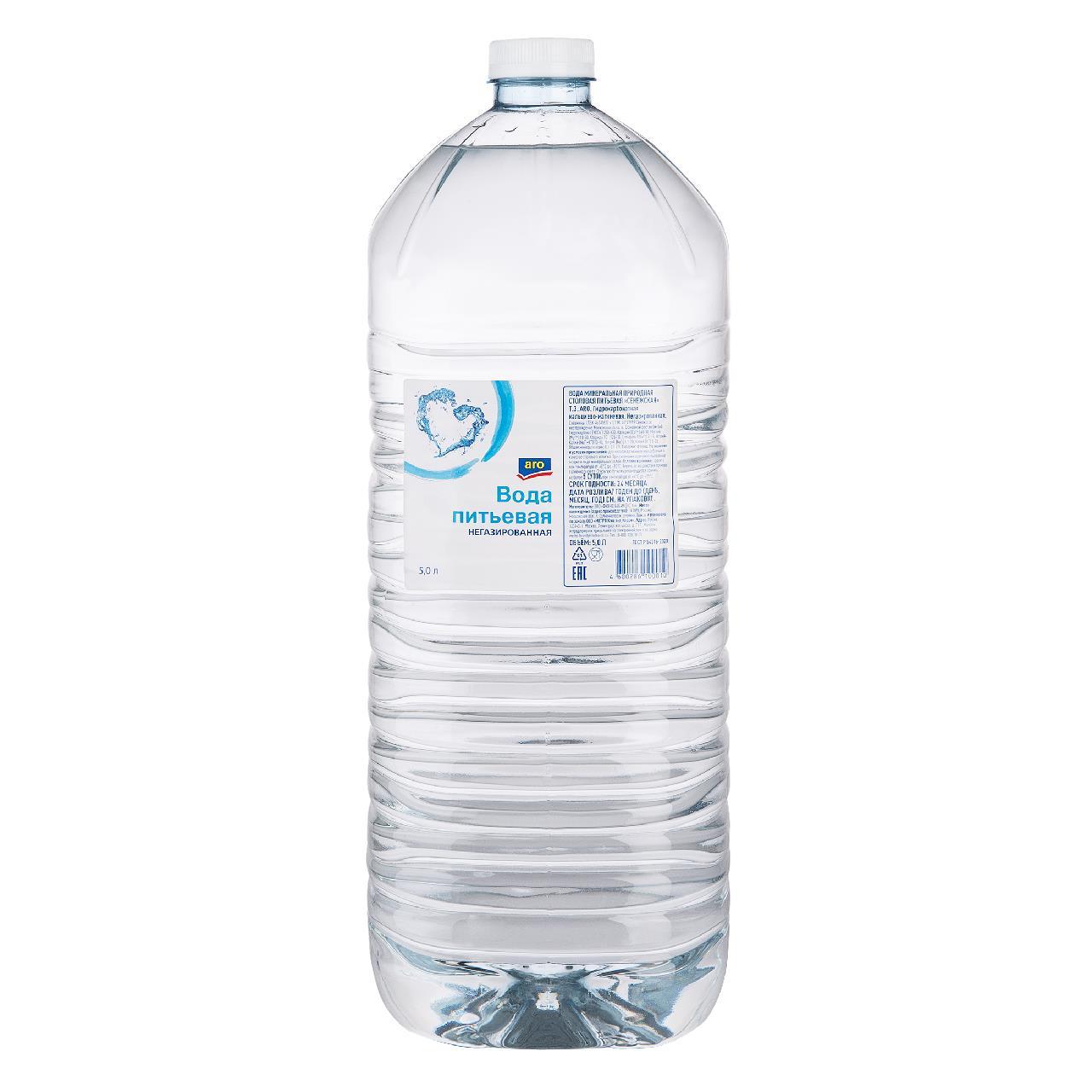 Питьевая вода ARO негазированная, 5 л