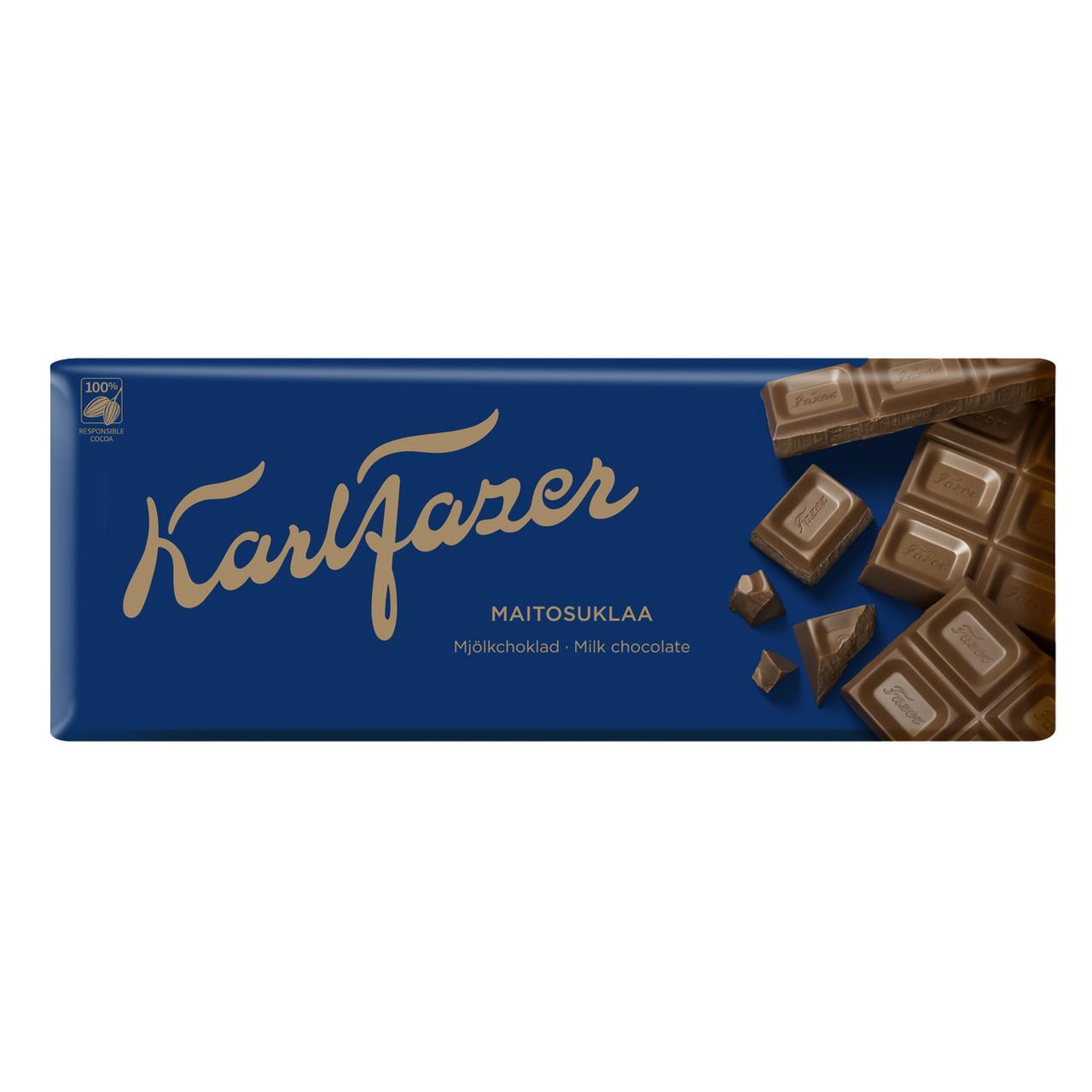 Шоколад KARL FAZER Молочный, 200 г
